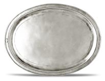 Oval incised tray