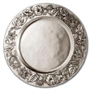 round tray w/flower dec.