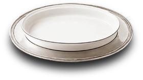 vassoio ovale con pirofila