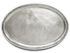 Metall-Tablett oval