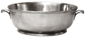 Beaded Footed Oval Basin