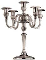 five-flames candelabra