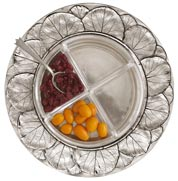 crudites tray with crystal insert
