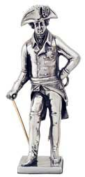 Frederick the Great with sword and rod figurine