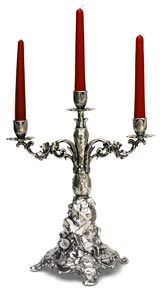 three-flames candelabra