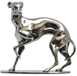 statuette - greyhound on pewter base