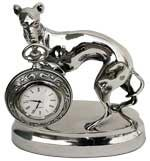 pocket watch stand w/greyhound