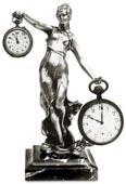 portaorologio donna con fregio con base marmo