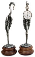 pocket watch stand - stork