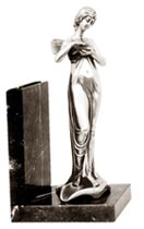 bookend - woman with bird