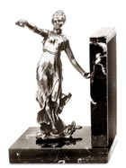 bookend - woman with ornament
