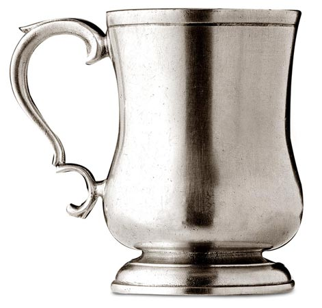 Tankard cm h 13 (Pewter) - collection: Njord. Cosi Tabellini.