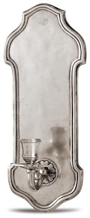 Wall sconce candlestick, grey, Pewter, cm h 33