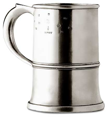1/4 gallon tankard cm h 16 (Pewter) - collection: Normandia. Cosi Tabellini.