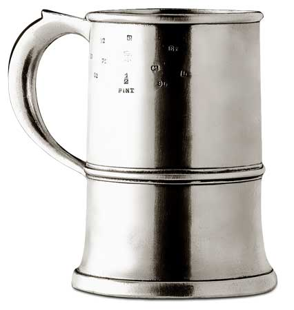 1/2 pint  tankard cm h  9 (Pewter) - collection: Njord. Cosi Tabellini.