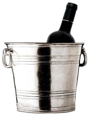 Champagne bucket cm 21x18 (Pewter) - collection: Todi. Cosi Tabellini.