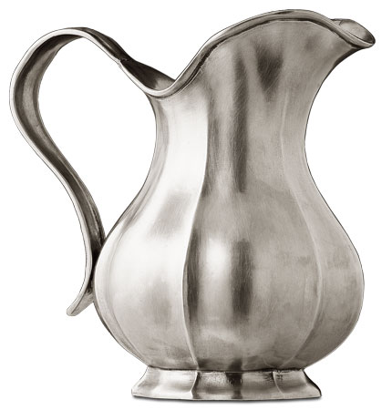 Pitcher / fluted cm h 23 (Pewter) - collection: Barocco. Cosi Tabellini.