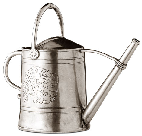 Watering can cm h 24 (Pewter) - collection: Anemone. Cosi Tabellini.