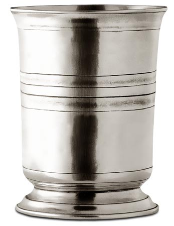 Tankard cm h 8,5 x cl 15 (Pewter) - collection: Piemonte. Cosi Tabellini.