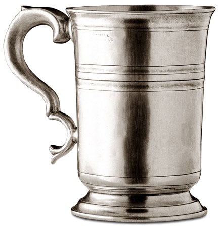 Tankard cm h 16,5 (Pewter) - collection: Piemonte. Cosi Tabellini.