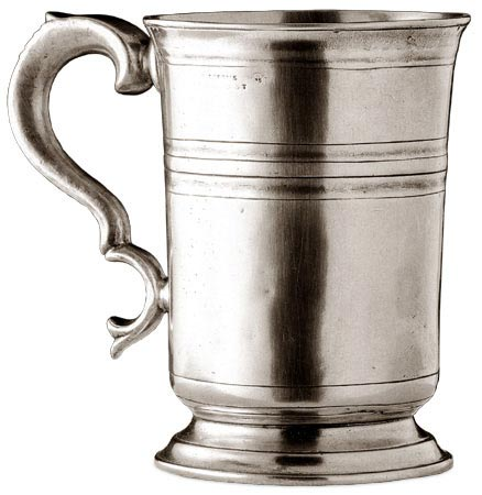 Tankard cm h 12 (Pewter) - collection: Piemonte. Cosi Tabellini.