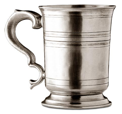 Tankard cm h 10 (Pewter) - collection: Piemonte. Cosi Tabellini.