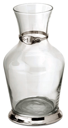 Wine decanter, litre cm h 22 (Pewter, Glass) - collection: Velletri. Cosi Tabellini.