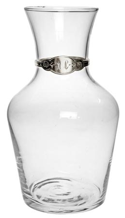 Wine decanter, litre cm h 20,5 (Pewter, Glass) - collection: Francia. Cosi Tabellini.
