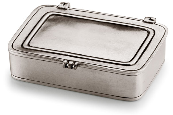 Lidded box cm 11,5 x 8 (Pewter) - collection: Laurus. Cosi Tabellini.
