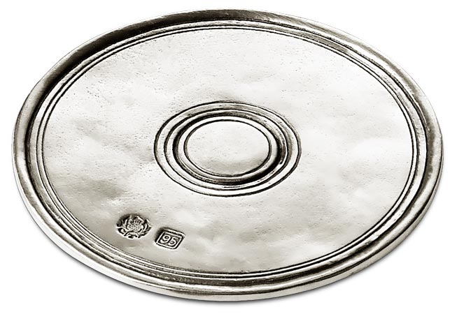 Round coaster cm Ø 9,5 (Pewter) - collection: Palio. Cosi Tabellini.