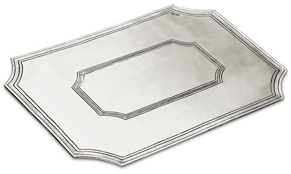 Octagonal placemat, grey, Pewter, cm 40x30