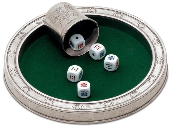 Dice-set boardgame cm Ø 24 (Pewter) - collection: Tacito. Cosi Tabellini.