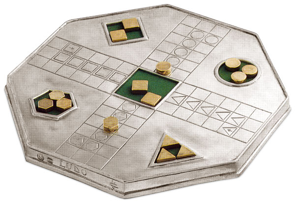 Boardgame cm 24x24 (Pewter) - collection: Ludo. Cosi Tabellini.