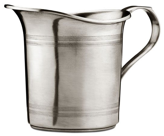Pitcher / straight cm 15x14,5 (Pewter) - collection: Botticino. Cosi Tabellini.