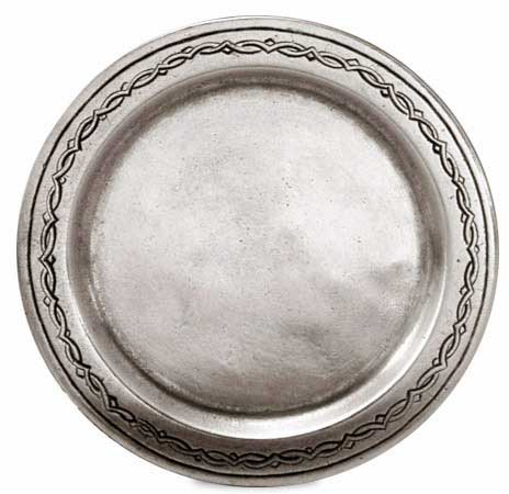 Saucer cm Ø 10,5 (Pewter) - collection: Antioco. Cosi Tabellini.