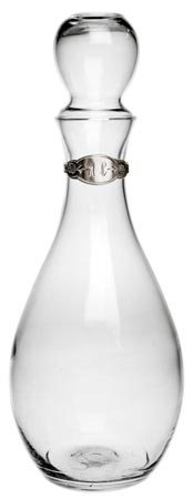Decanter cm h 29 (Pewter, Glass) - collection: Velletri. Cosi Tabellini.