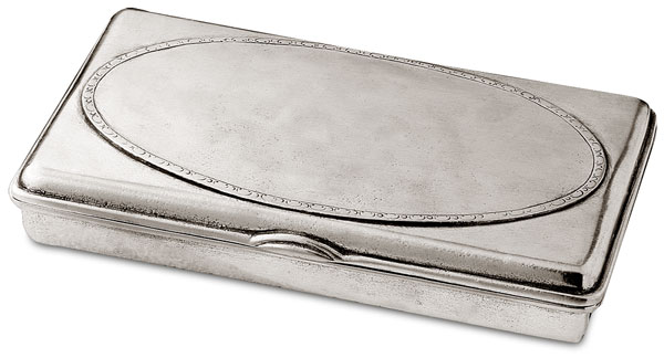 Box cm 21x13xh3,5 (Pewter) - collection: Scrigno. Cosi Tabellini.