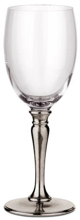 All purpose wine glass cm h 21 x cl 30 (Pewter, lead-free Crystal glass) - collection: Barolo. Cosi Tabellini.