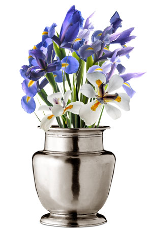 Rimmed vase cm h 17 (Pewter) - collection: Terlizzi. Cosi Tabellini.