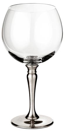 Balloon wine glass cm h 19 x cl 50 (Pewter, lead-free Crystal glass) - collection: Barolo. Cosi Tabellini.