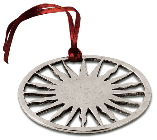Christmas ornament cm 8,5 (Pewter) - collection: Sole. Cosi Tabellini.