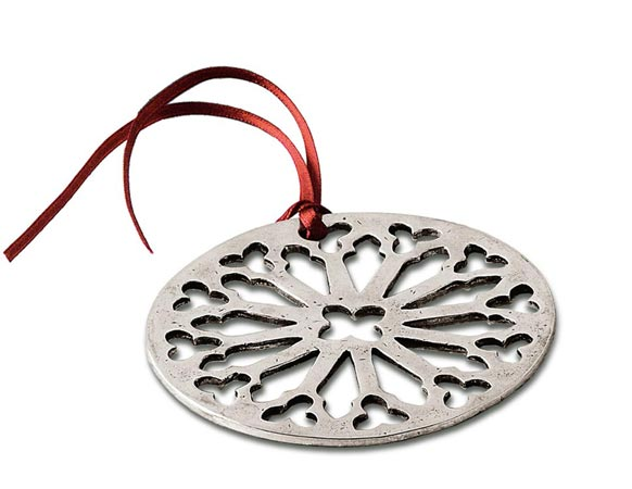 Christmas ornament cm 8,5 (Pewter) - collection: Gotico. Cosi Tabellini.