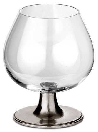 Cognac glass cm h 11 x cl 32 (Pewter, lead-free Crystal glass) - collection: Tosca. Cosi Tabellini.