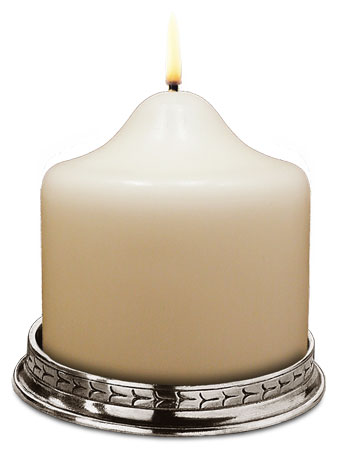Round candle holder cm int. Ø 10 (Pewter) - collection: Glicerio. Cosi Tabellini.