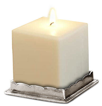 Square candle holder cm 7,5x7.5 (Pewter) - collection: Onoro. Cosi Tabellini.