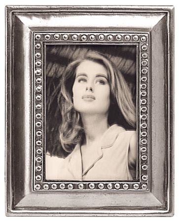 Rectangular pictureframe, med cm 11x14 - photo format 7x10 (Pewter, Glass) - collection: Veneto. Cosi Tabellini.