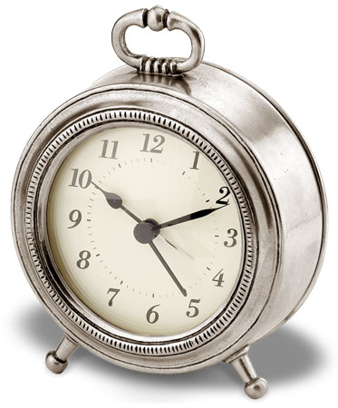 Table alarm clock cm Ø 11 (Pewter, Glass) - collection: Toscana. Cosi Tabellini.