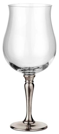 Big tulip red wine cm h 24 x cl 73 (Pewter, lead-free Crystal glass) - collection: Barolo. Cosi Tabellini.