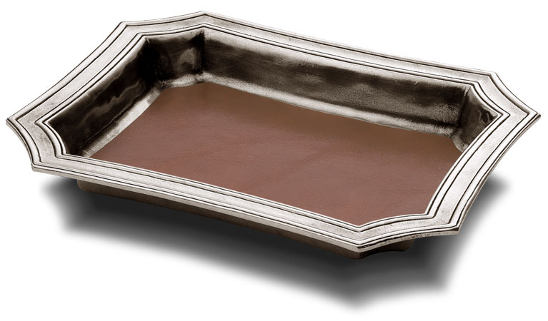 Pocket change tray cm 21,5 x 17 (Pewter) - collection: Matera. Cosi Tabellini.