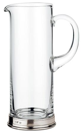 Martini pitcher cm Ø10 x h27 (Pewter, lead-free Crystal glass) - collection: Sirmione. Cosi Tabellini.